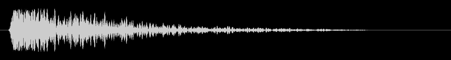 ドン・バンというシンプルな音の未再生の波形