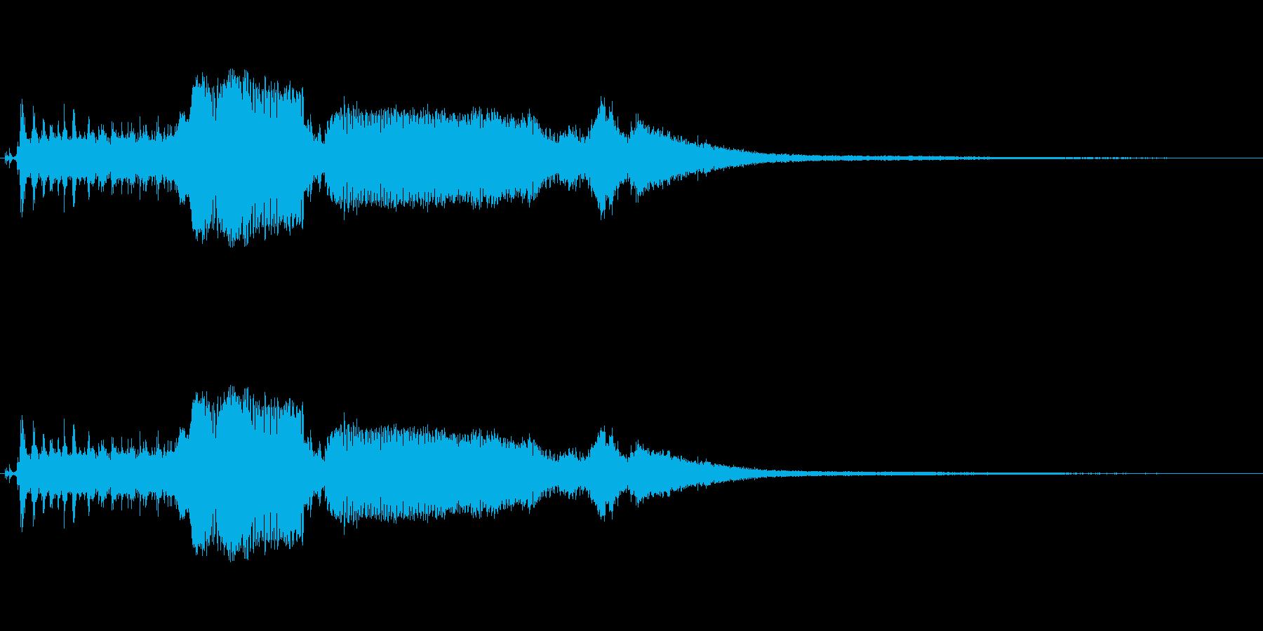 スノーモービルの開始と離陸の再生済みの波形