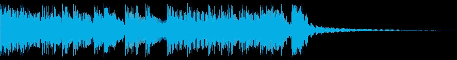 パンキッシュなロックジングル05の再生済みの波形