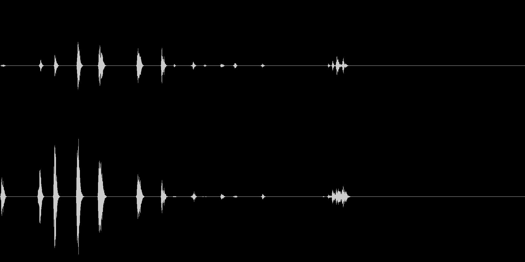 ヒヨドリとウグイスの鳴き声【ドライ】の未再生の波形