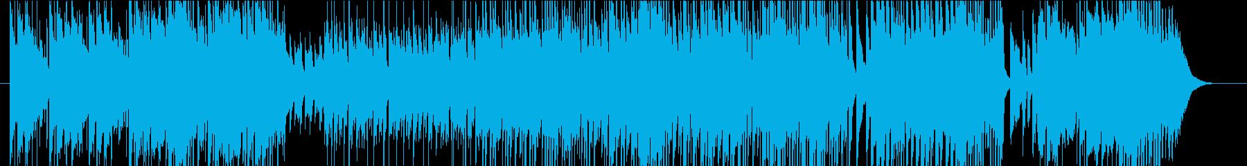 エスニックでミステリアスなBGMの再生済みの波形