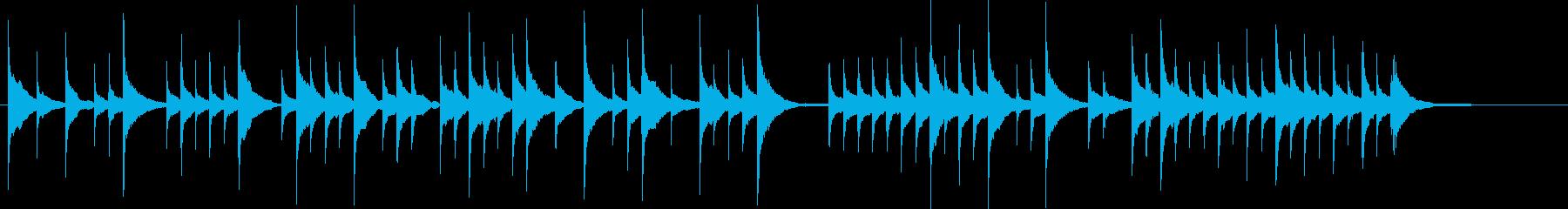 おやすみなさいのオルゴールジングルの再生済みの波形