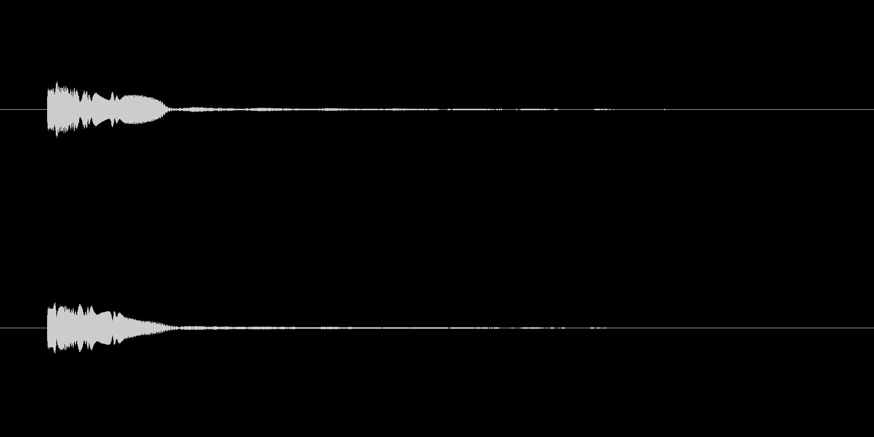 クローーン テロップ・決定音・タッチ音の未再生の波形