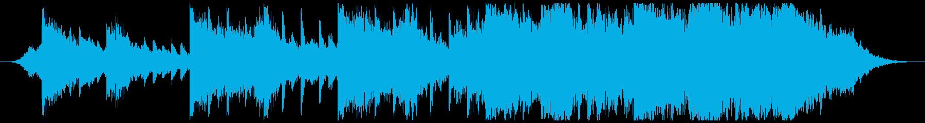 ホラー映画の悲しいBGM-30秒の再生済みの波形