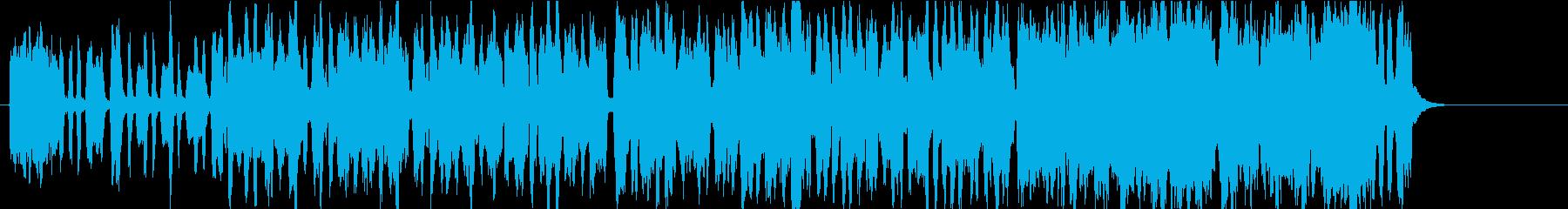 アコーディオンによるほがらかなポップの再生済みの波形