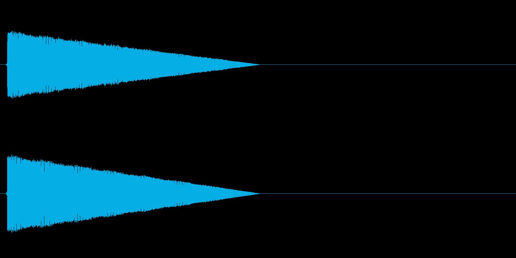 ポワワワワワ(転送、レトロゲーム、低い)の再生済みの波形
