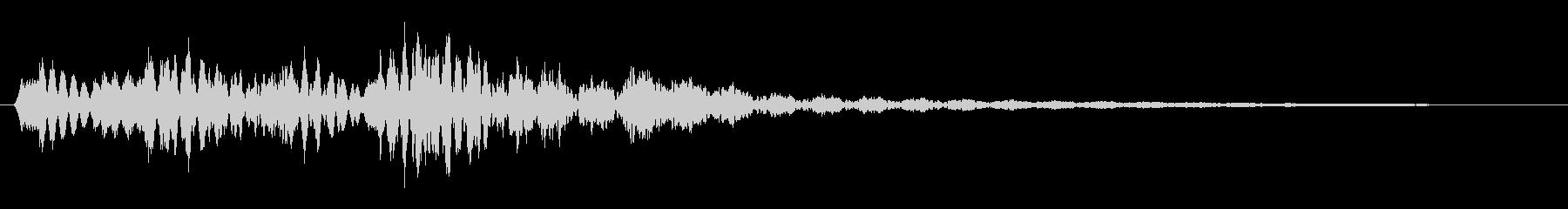 動き(ビブラフォン)の未再生の波形