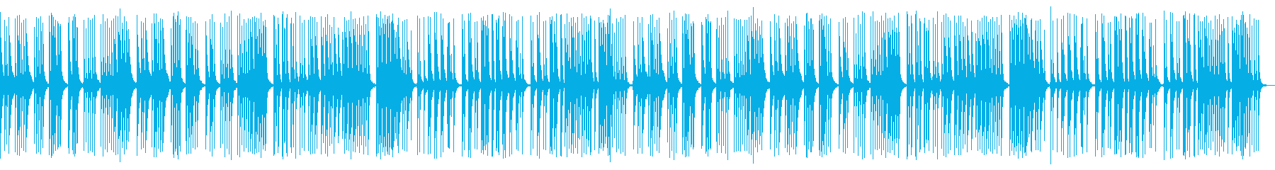 ほのぼのした雰囲気。三線のみを使用した曲の再生済みの波形