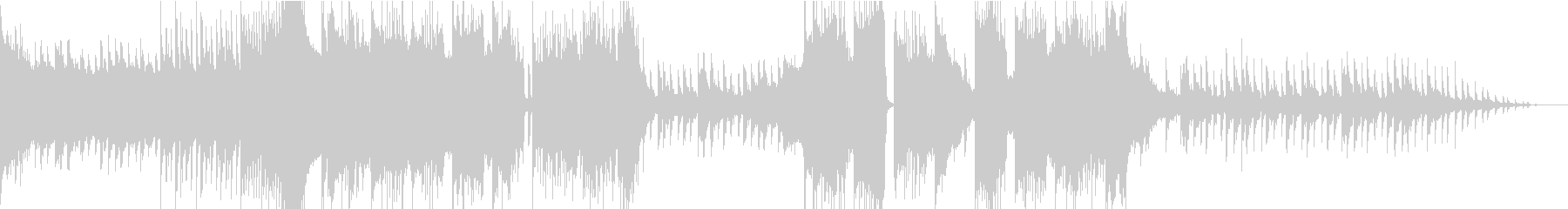 攻撃的なワブルベースのダブステップの未再生の波形