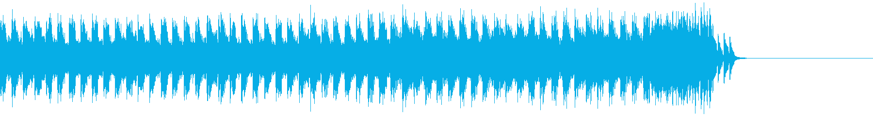 歪んだギターが使われてるジングルの再生済みの波形