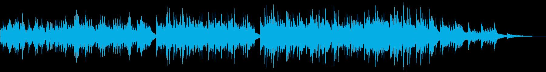 ほのぼのとした優しい ピアノ・ワルツの再生済みの波形