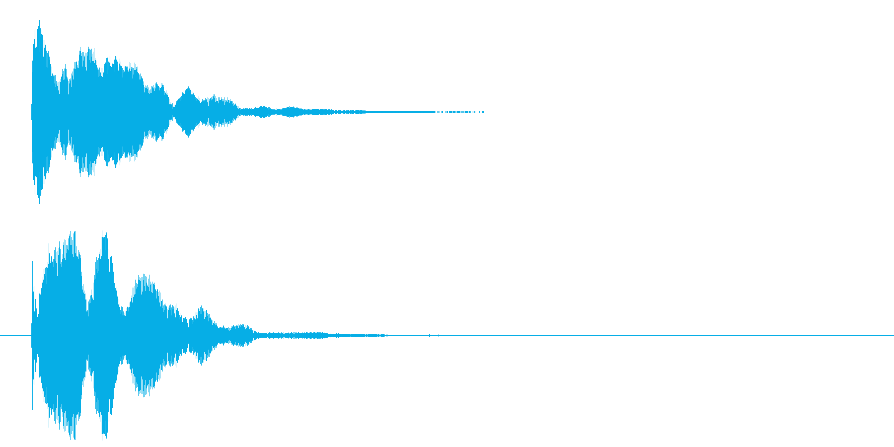 ポーン②(重要・魔法・決定・開始・完了)の再生済みの波形