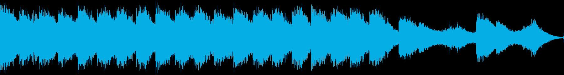 不気味な和風ホラーBGM・ループの再生済みの波形