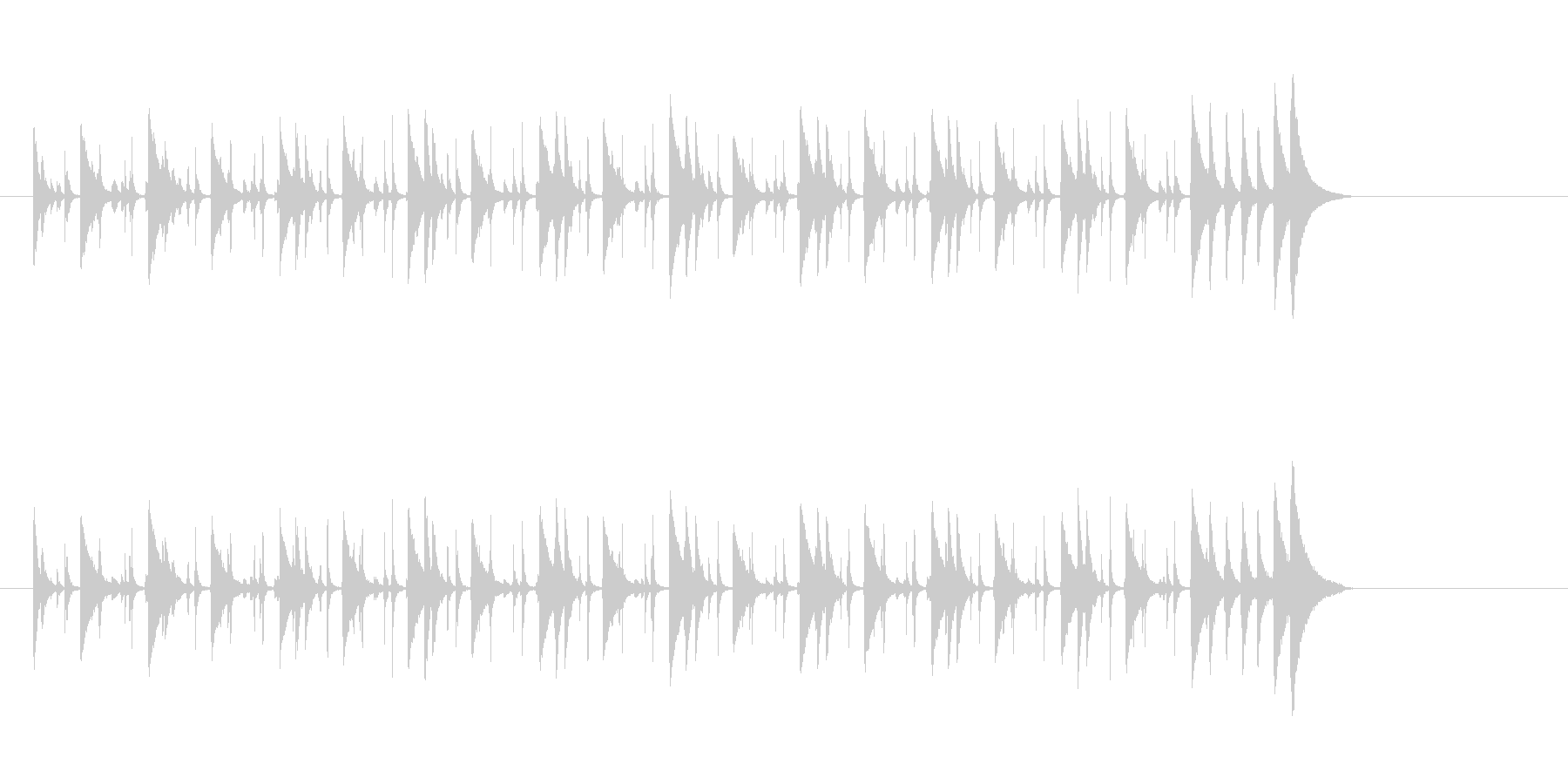 ラテン 軽快なリズム、メレンゲのグルーヴの未再生の波形