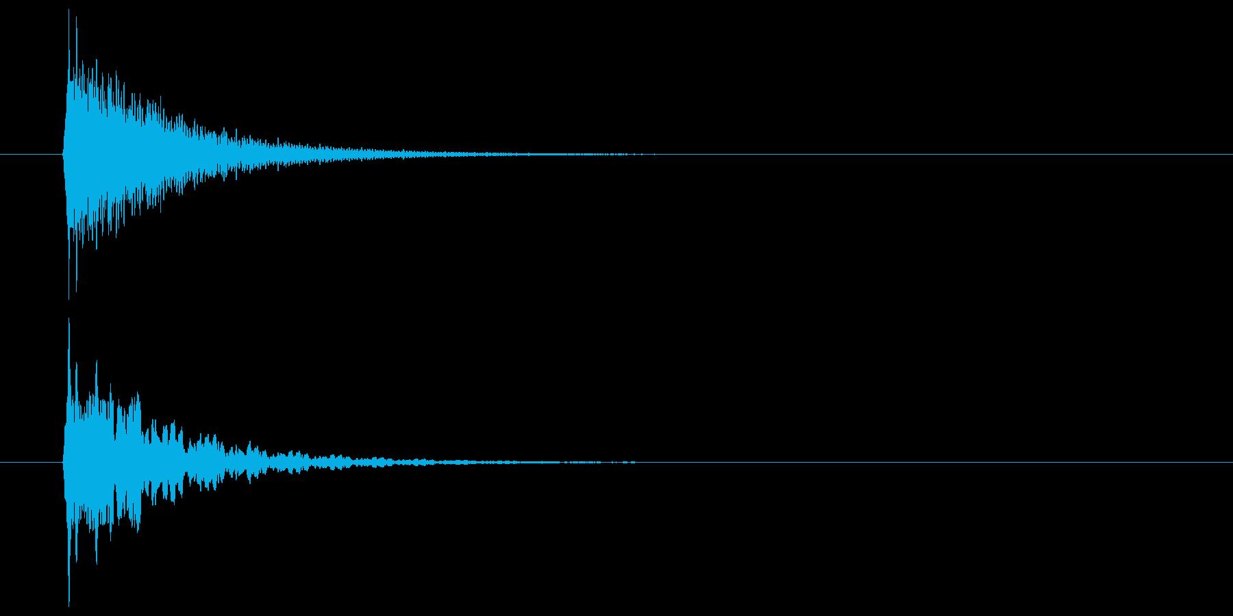 キーン(甲高い音・余韻長い)の再生済みの波形