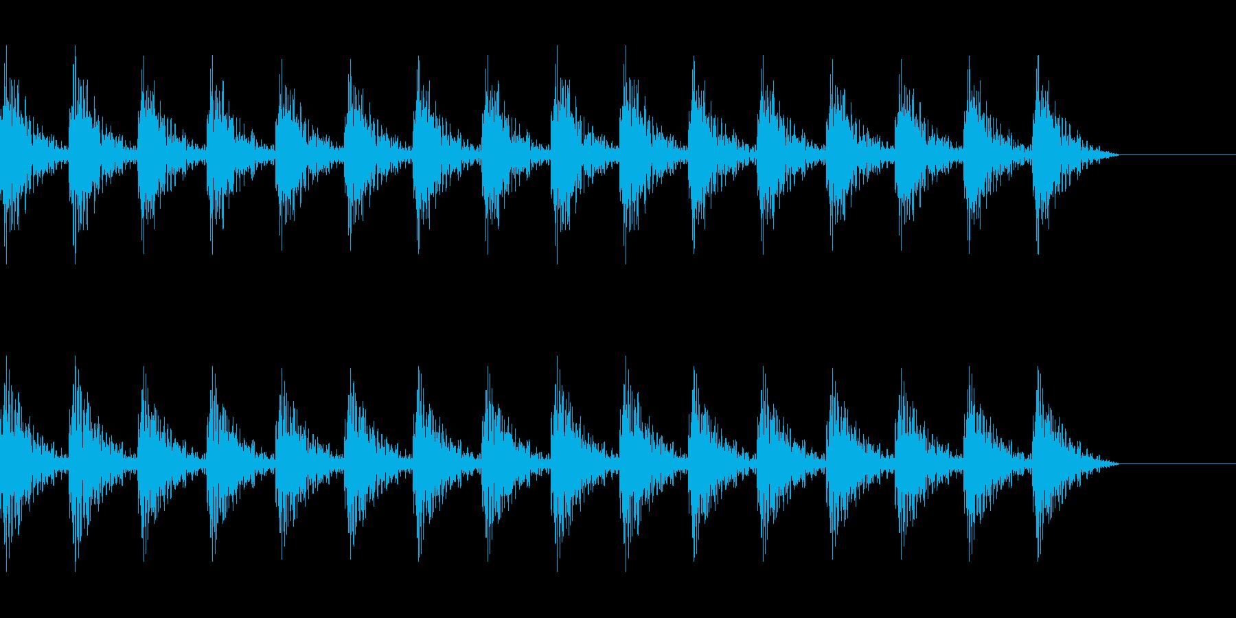 どんどん(巨人、速歩き)A13の再生済みの波形