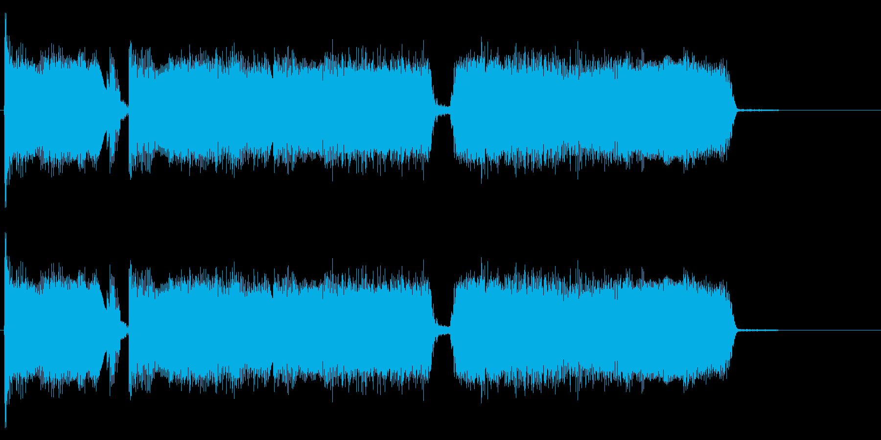 生演奏のエレキギターのリフの再生済みの波形