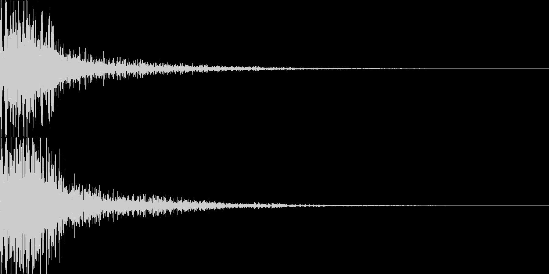ジャン(オーケストラヒット 低め)の未再生の波形