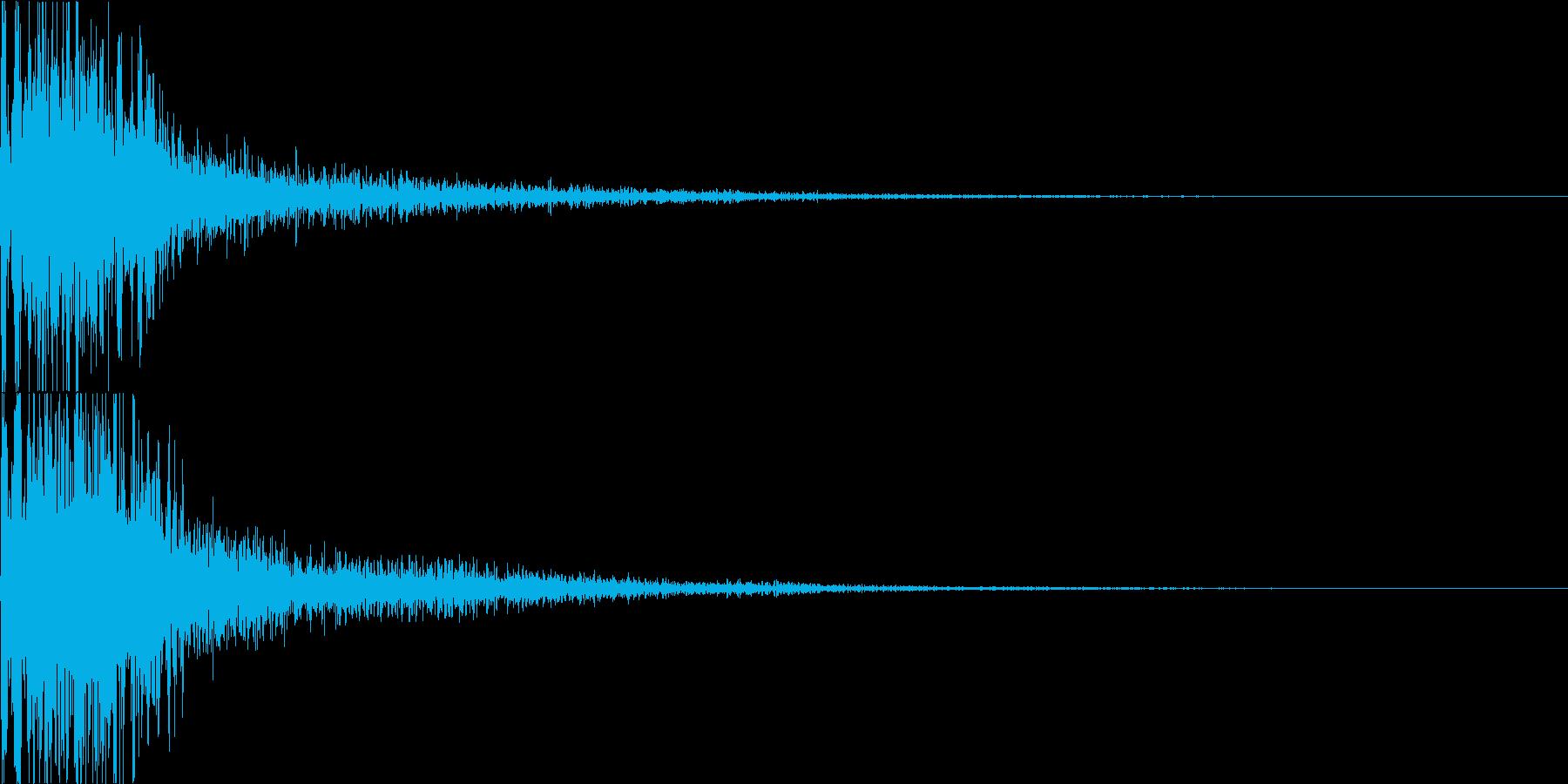ジャン(オーケストラヒット 低め)の再生済みの波形