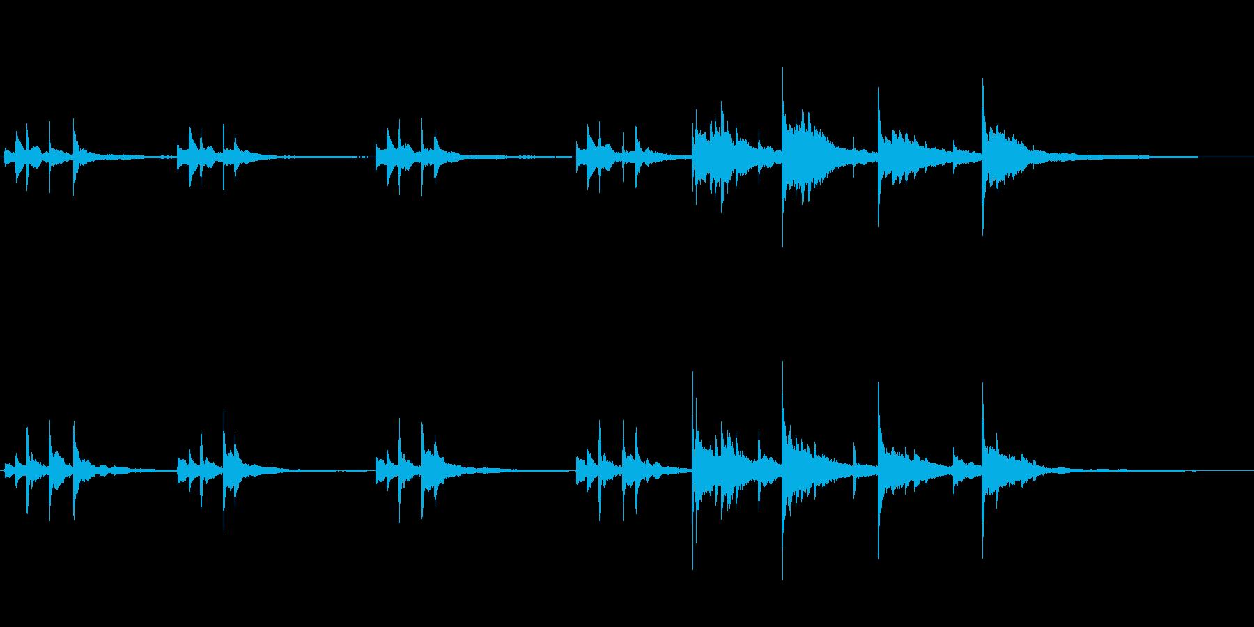 切ないピアノソロ(後半は強め)の再生済みの波形
