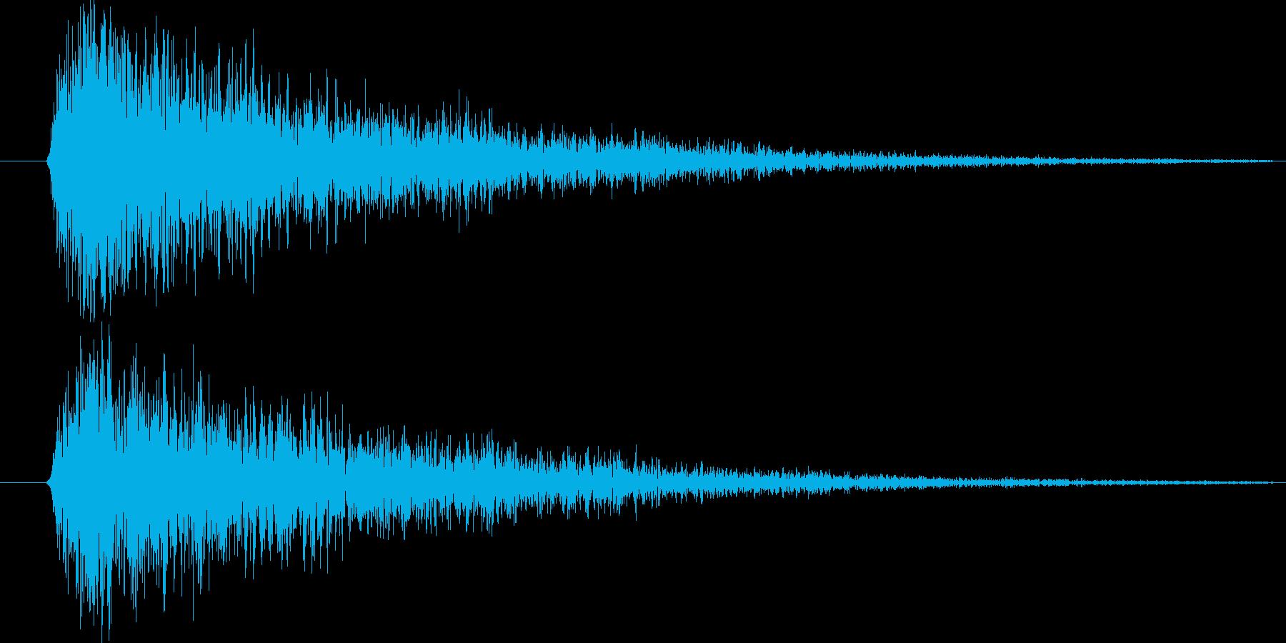 金属音の再生済みの波形