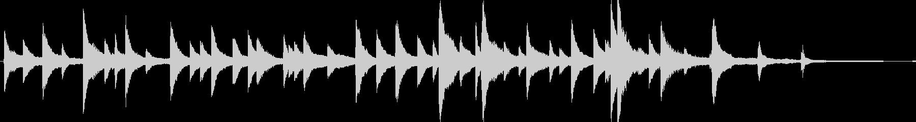 優しく切ないピアノソロの未再生の波形