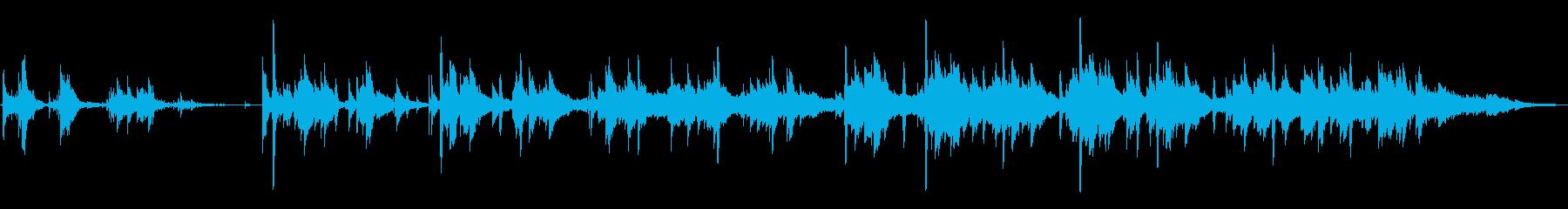 ギターやピアノによる美しいハーモニーの再生済みの波形