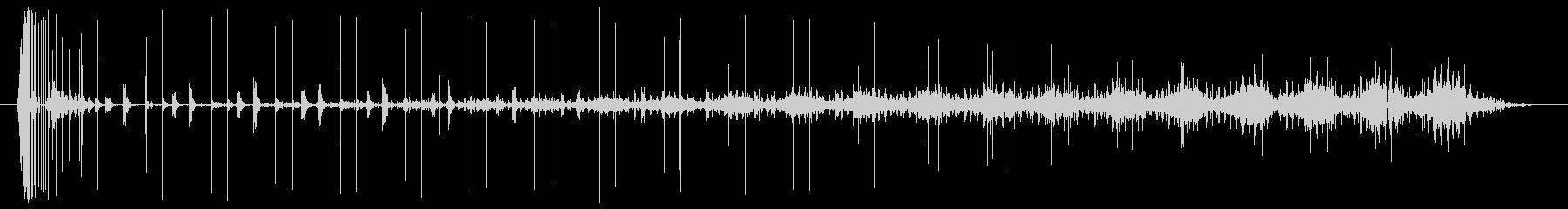 ノイズ 途切れるノイズのうねり02の未再生の波形