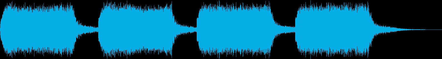 ビーッ!(警告音 危険 サイレン) の再生済みの波形