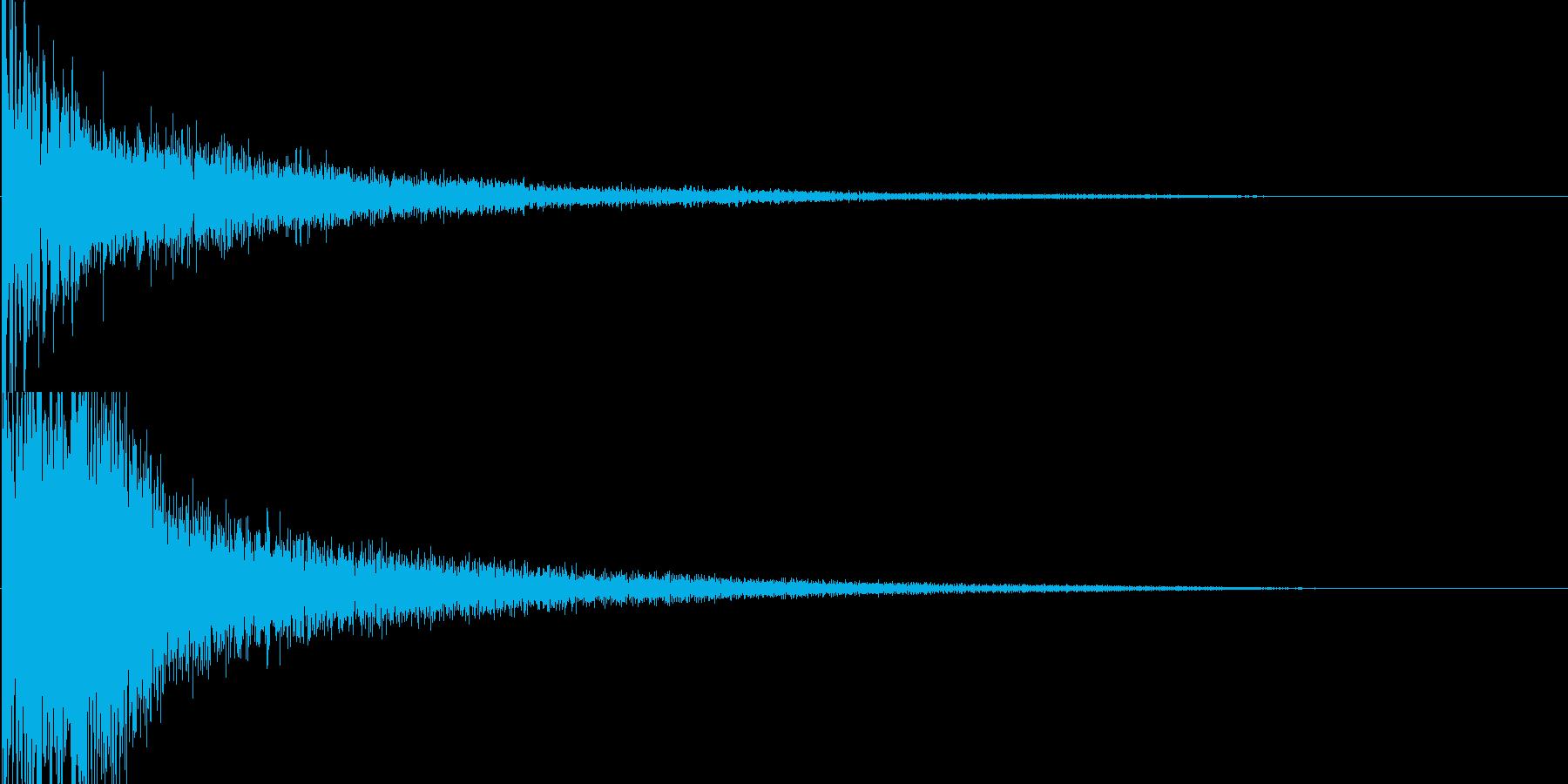 和風クリックスタート音の再生済みの波形