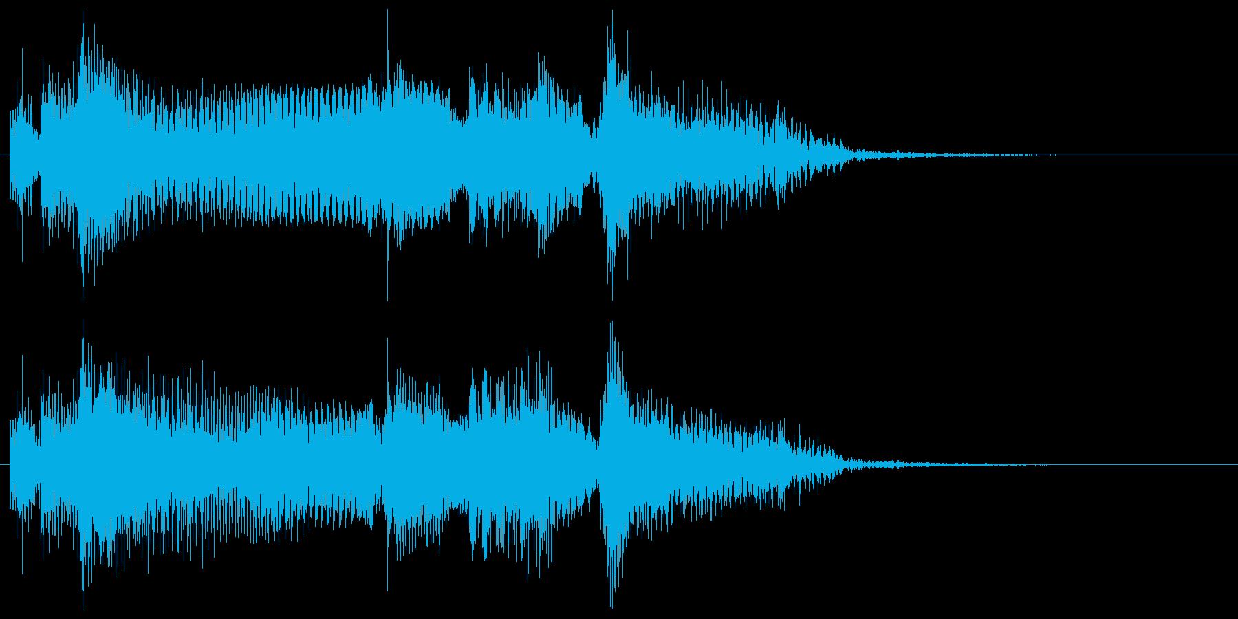クリーントーン ギターフレーズ コードの再生済みの波形