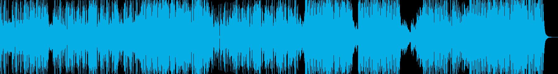 猛獣が放たれたイメージのヒップホップの再生済みの波形