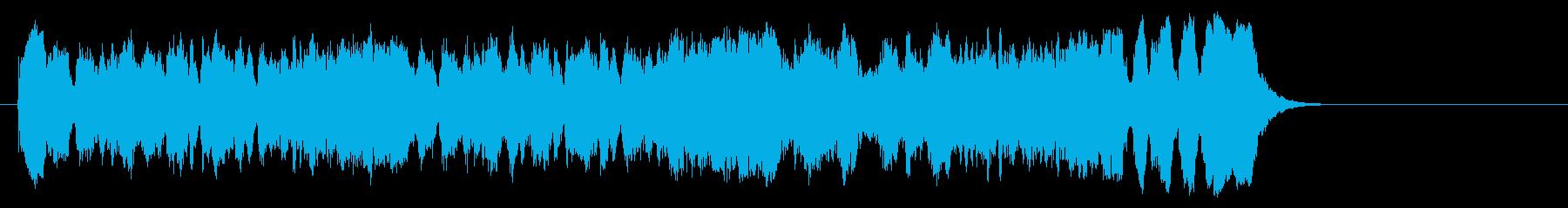気品高いオーケストラ楽曲(サビ~エンド)の再生済みの波形