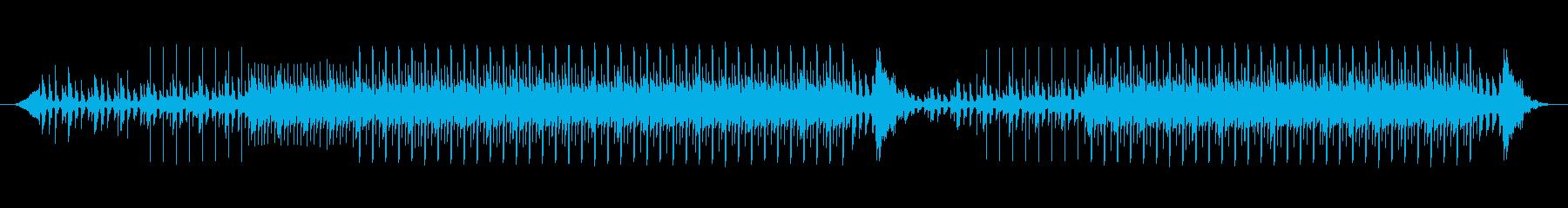 ほのぼのした、かわいい四つ打ちエレクトロの再生済みの波形