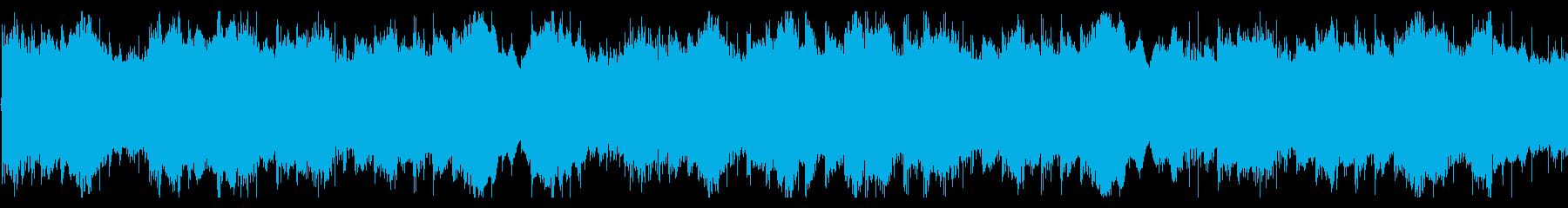 和風な旋律のゆったりとしたループBGMの再生済みの波形