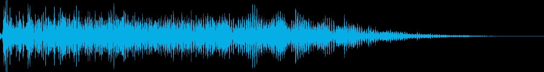 怖いジングル ホラータイトル表示音等にもの再生済みの波形