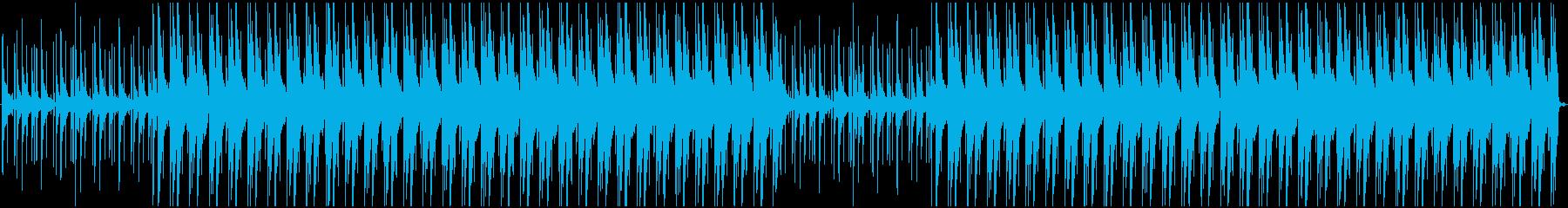 lofiでゆったりとした雰囲気のBGMの再生済みの波形