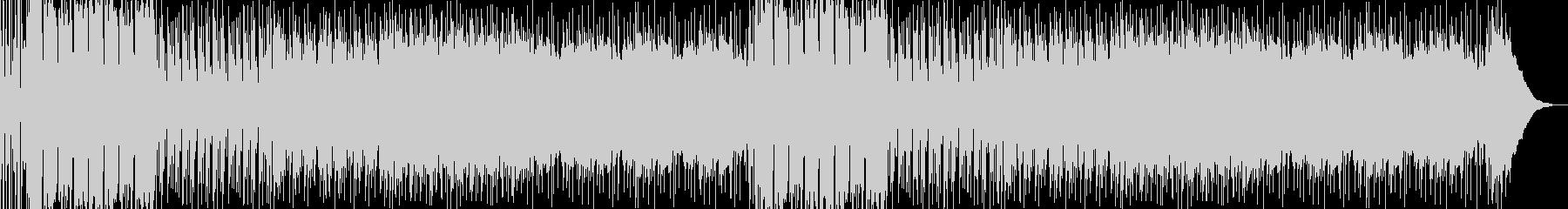 ロックなBGMの未再生の波形