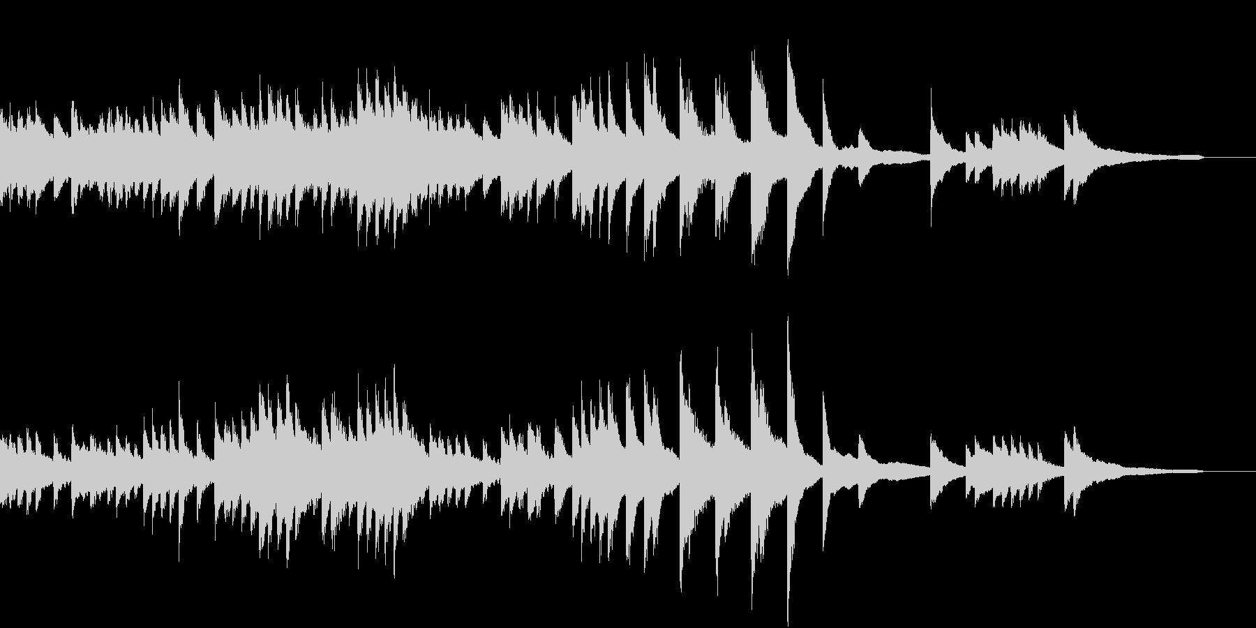 清くたくましく動き続けるピアノジングルの未再生の波形