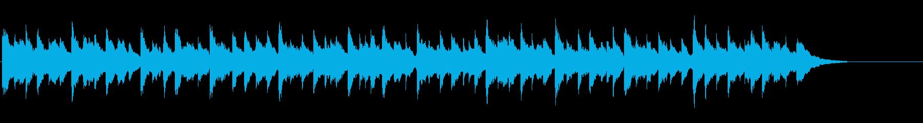 クリスマス曲「きよしこの夜」オルゴールの再生済みの波形