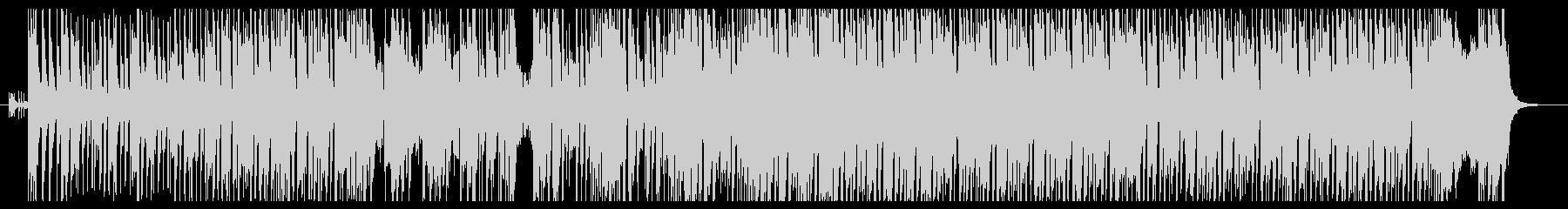 ハードロックなダンス系インスト曲の未再生の波形