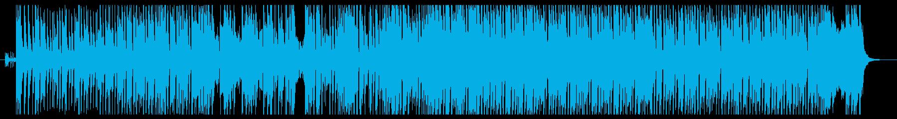 ハードロックなダンス系インスト曲の再生済みの波形