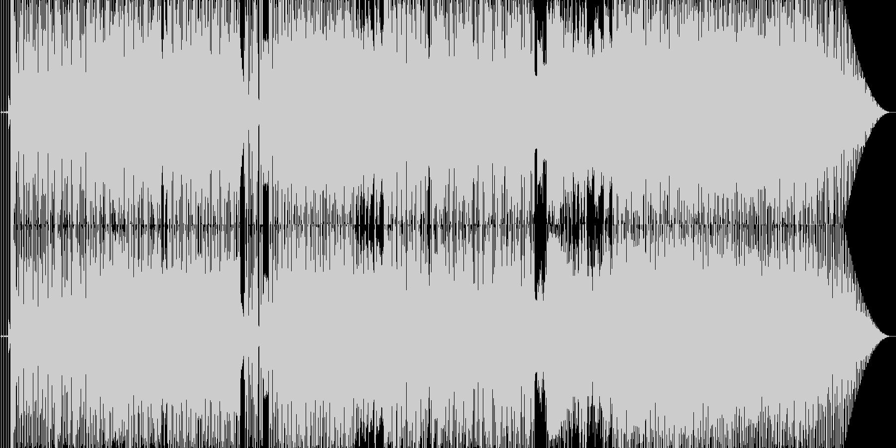 パパラッチが獲物を狙う様なイメージの曲の未再生の波形