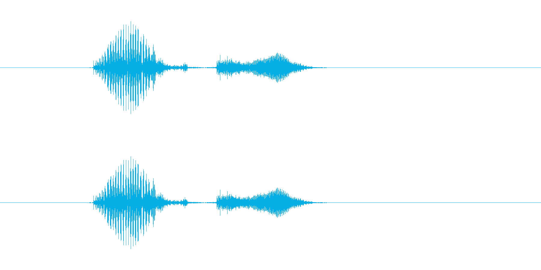 ボキッの再生済みの波形
