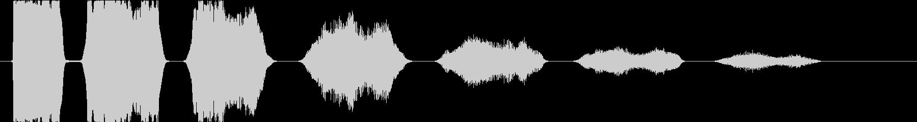 ゲームオーバー:減少していく失敗の音3の未再生の波形