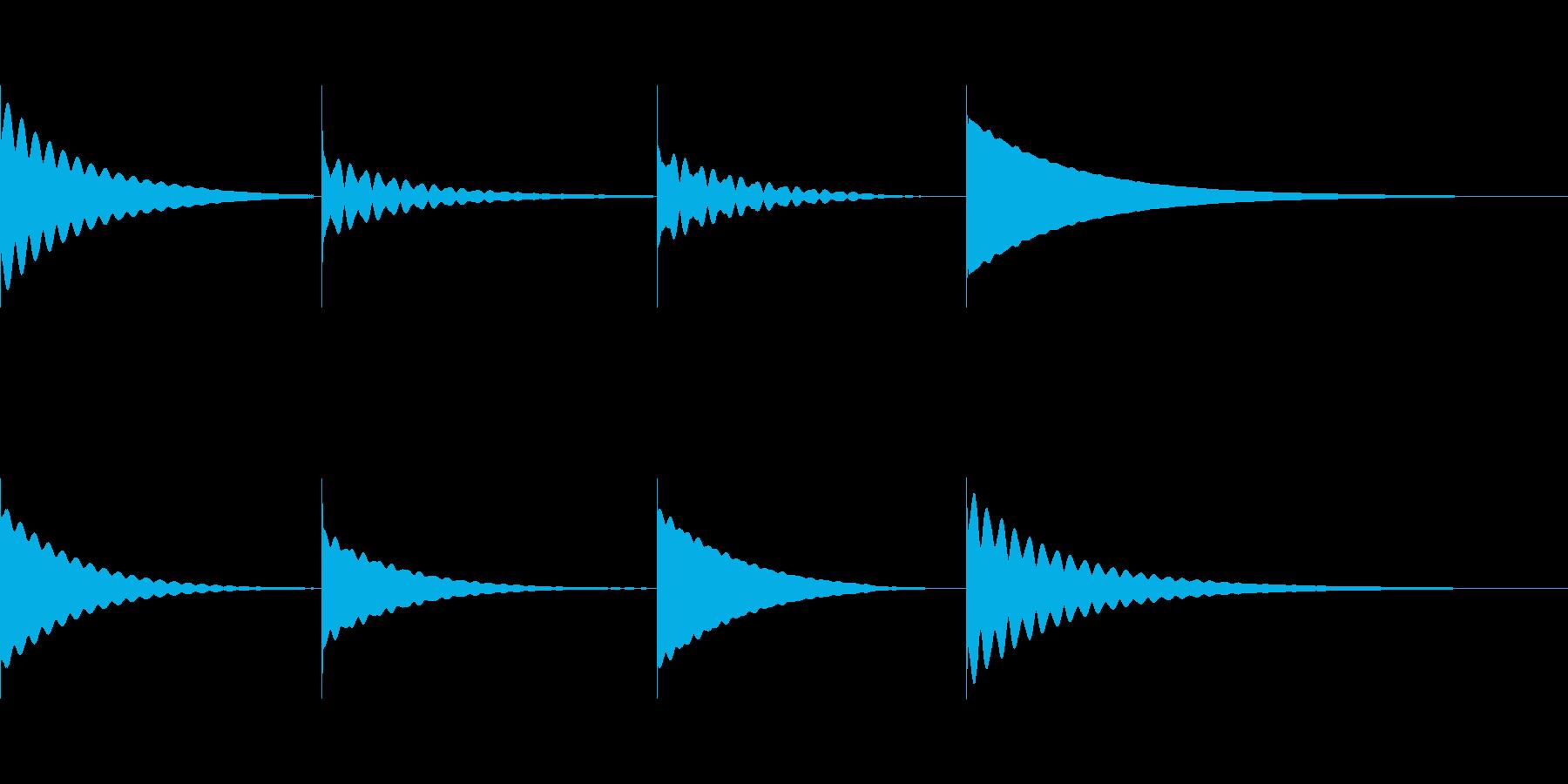 チーーーーーン(仏具の鏧を鳴らす音)の再生済みの波形