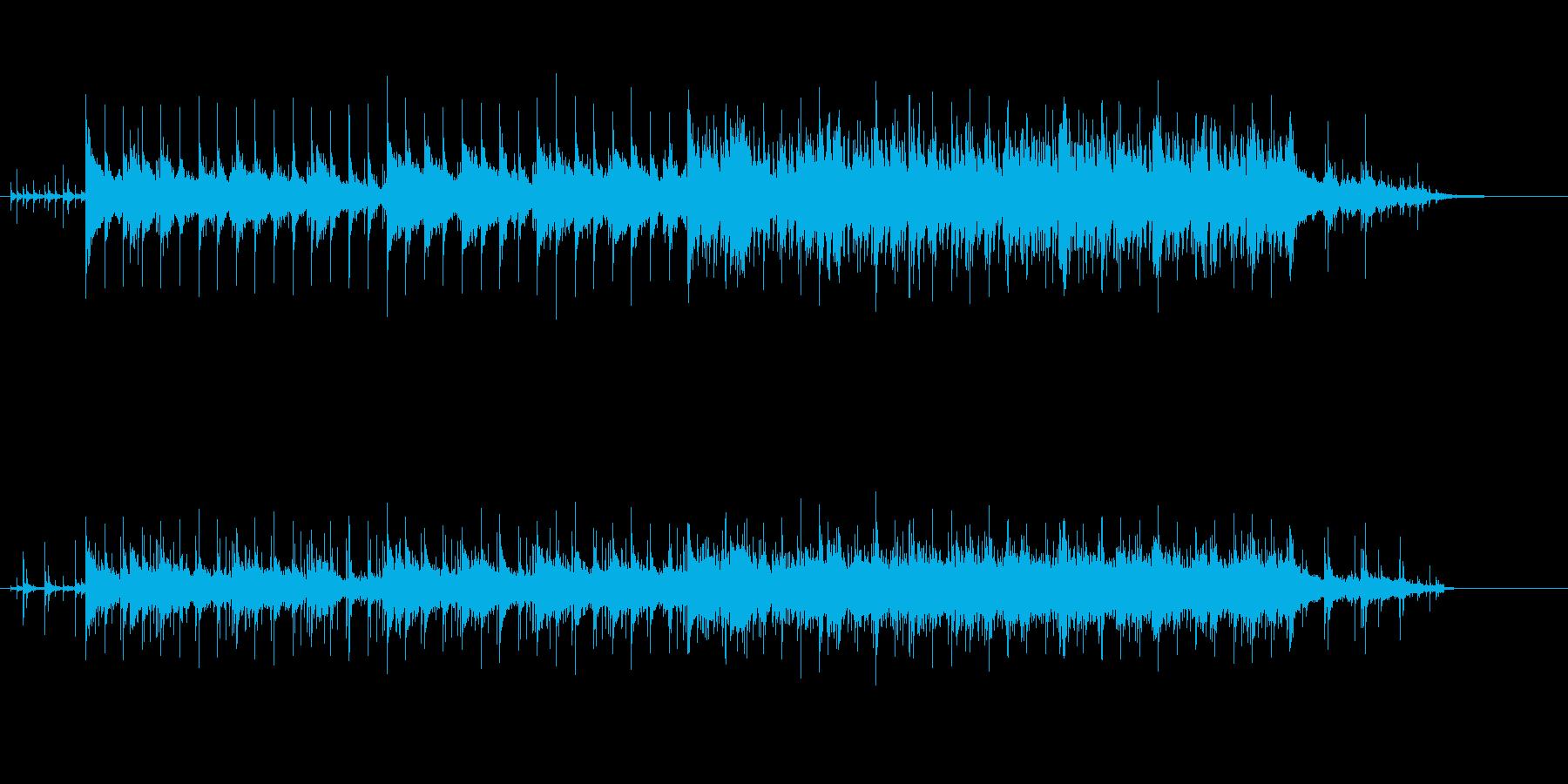 オリエンタルなワールド・ミュージック風の再生済みの波形