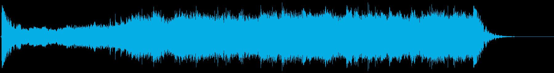 重厚で威厳ある和風オープニング太鼓/篠笛の再生済みの波形