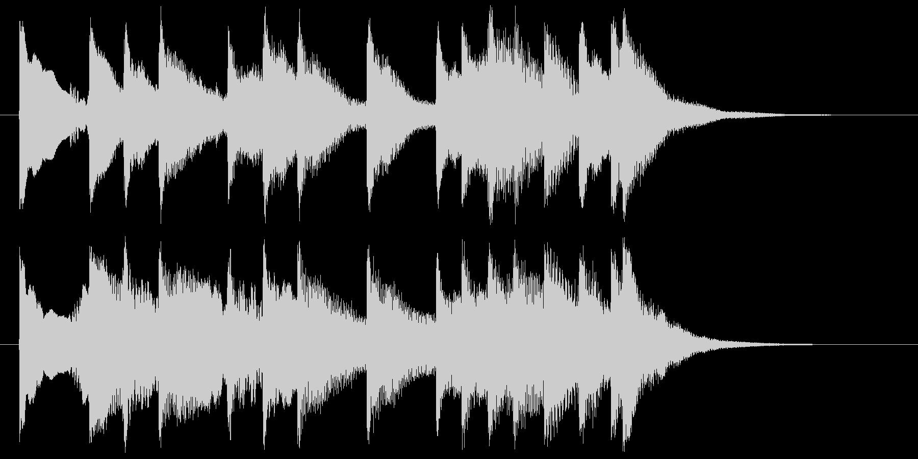 琴・尺八の純和風サウンドジングルの未再生の波形