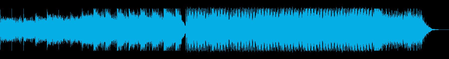 近未来的でスケールの大きいポップスの再生済みの波形